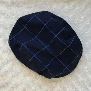 Janie & Jack Plaid Newsboy Hat Cap Blue 6 to 8